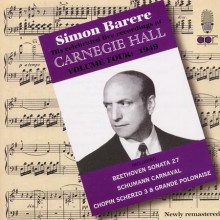 SIMON BARERE AT CARNEGIE HALL (1949)
