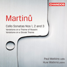 Martinu: Sonate Per Cello E Piano Nn.1 - 3