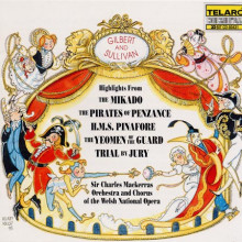 GILBERT - SULLIVAN: Highlights da Mikado - The Pirates of Penzance - Trial by Jury.