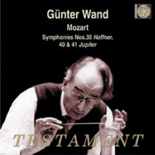MOZART:  Symphony No.35 in D - K.385 'Haffner' Symphony No.40 in G minor - K.550 Symphony No.41 in C - K.551 'Jupiter'