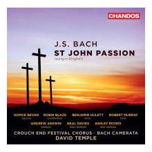 Bach:st John Passion(cantata In Inglese)