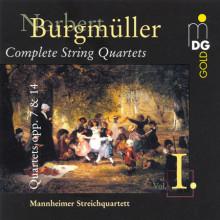 BURGMULLER: String Quartets Opp. 7 & 14