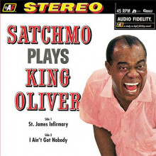 LOUIS ARMSTRONG: Satchmo Plays King Oliver (45 giri)