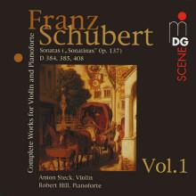 SCHUBERT: Opere x violino & Piano Vol.1