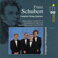SCHUBERT: Quartetti per archi Vol.7