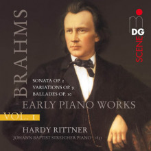 Brahms: Early Piano Works Vol. 1