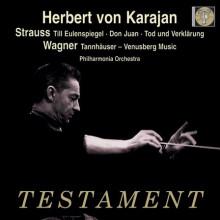 Von Karajan dirige Strauss e Wagner