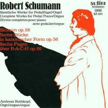 Schumann: opere X Piano A Pedale E Organo
