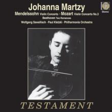 Johanna Martzy - esegue MENDELSSOHN Violin Concerto in E minor - Op.64 - MOZART Violin Concertos No.3 in G - K.216