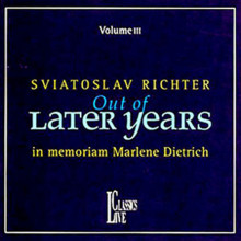 A.v.: Recital Di Richter Per M.dietrich