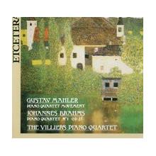 MAHLER/BRAHMS: Quartetti per piano