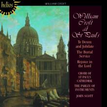 CROFT WILLIAM: Te Deum & Burial Service