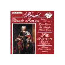 HANDEL: Chandos anthems vol. 1