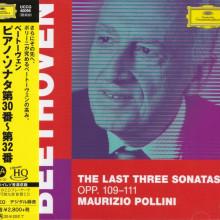BEETHOVEN: Le ultime tre sonate per piano