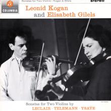 LECLAIR - TELEMANN: Leonid Kogan & Elizabeth Gilels