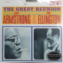ELLINGTON - ARMSTRONG: The Great Reunion (Clarity Vinyl SV - P II 200 grammi)