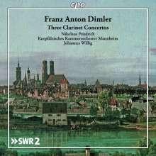 FRANZ ANTON DIMLER: Tre concerti per clarinetto